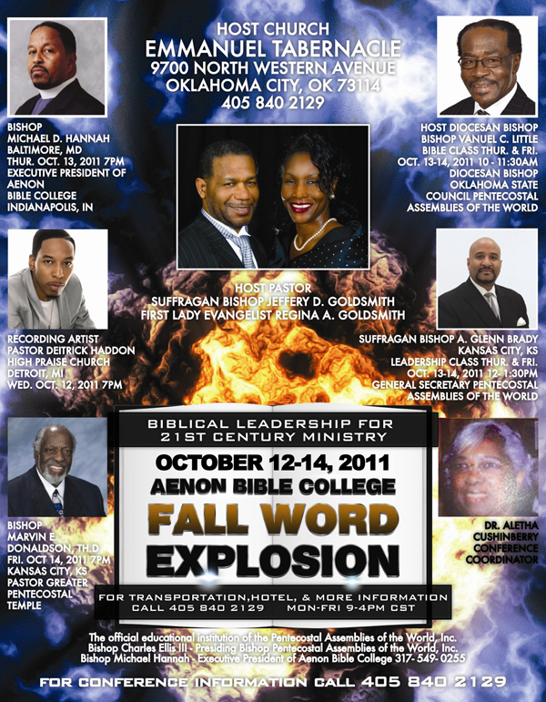 Events - Aenon Bible College Fall Word Explosion
