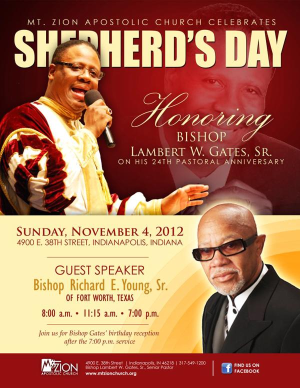 Events - Mt Zion Apostolic Church Shepherd's Day