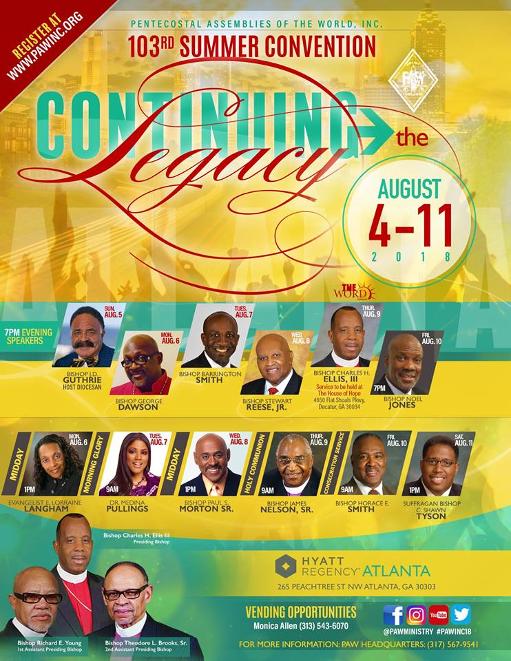 PAW Summer Convention 2018 Save The Date - Nationwide Ministry