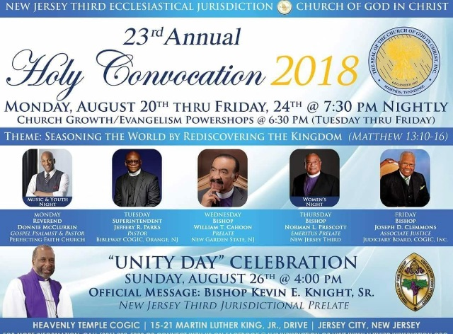 New Jersey Third Ecclesiastical Jurisdiction COGIC Holy Convocation
