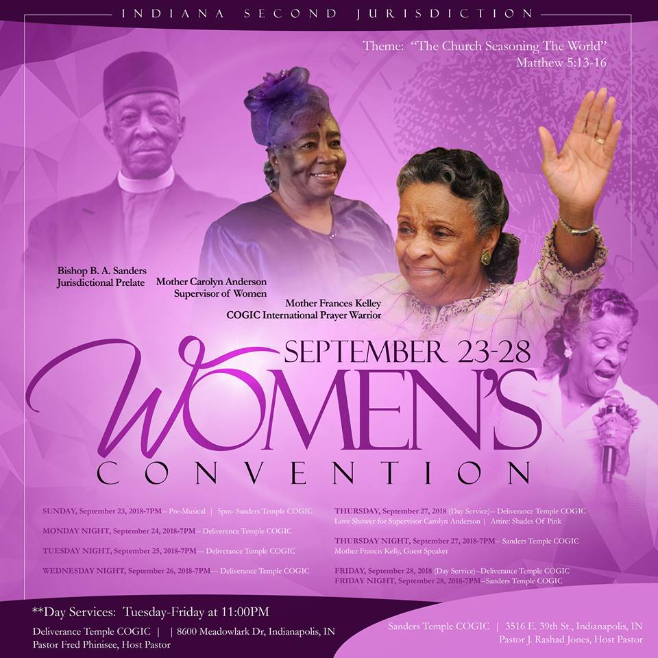 Indiana Second Jurisdiction COGIC Womens Convention 2018