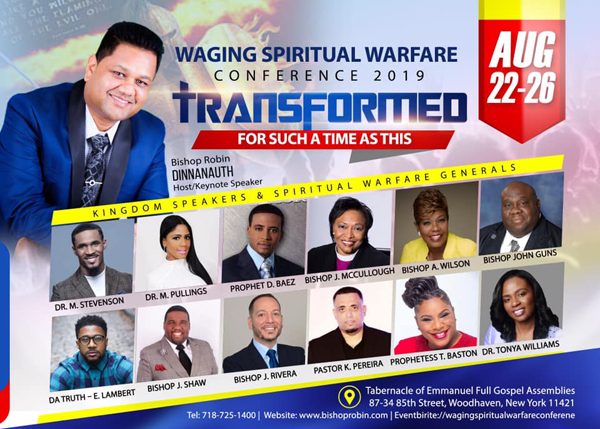 Waging Spiritual Warfare Conference August 2019