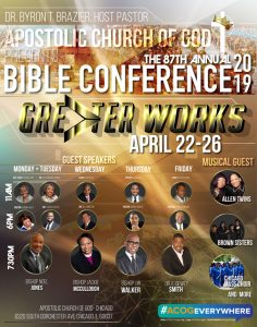 Apostolic Church of God 87th Annual Bible Conference on April 22-26