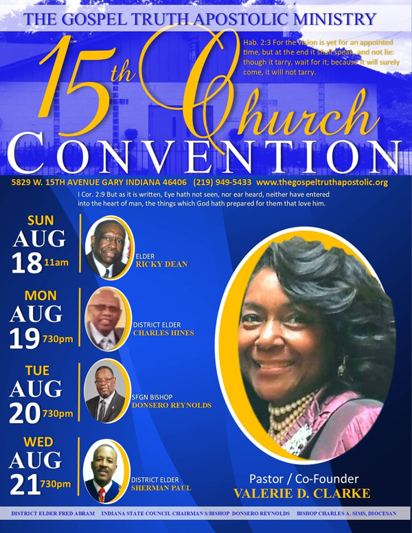 the gospel truth apostolic ministry 15th church convention