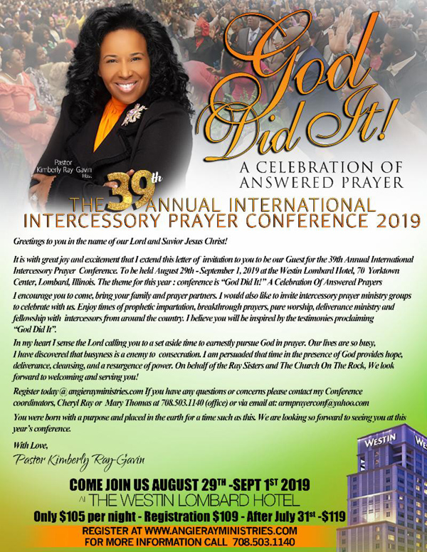 Angie Ray Ministries International Intercessory Prayer Conference 2019