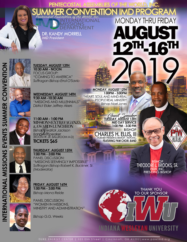 international missions department of the PAW 2019 summer convention