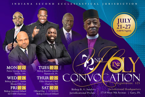 Indiana Second Ecclesiastical Jurisdiction 72 Holy