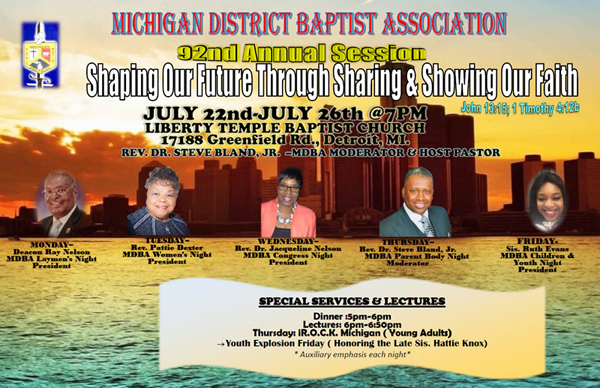Michigan District Baptist Association Annual Session 2019