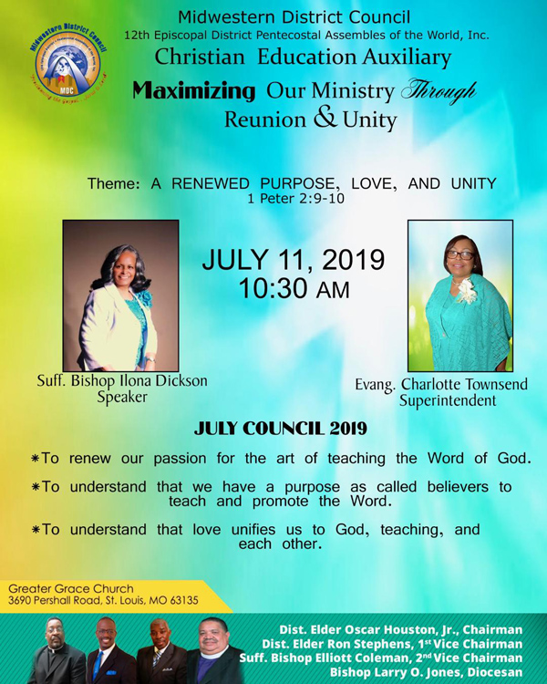 Midwestern District Council Christian Education Auxiliary July 2019