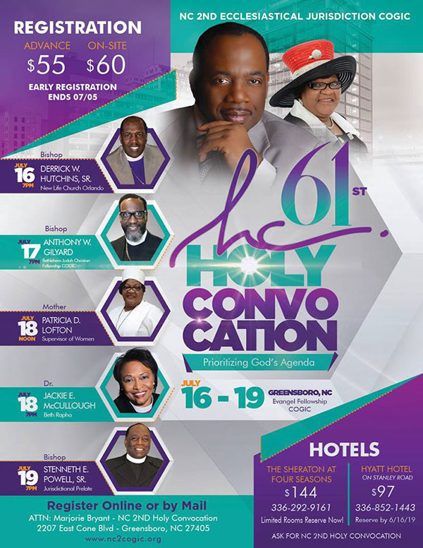 NC 2nd COGIC Holy Convocation 2019