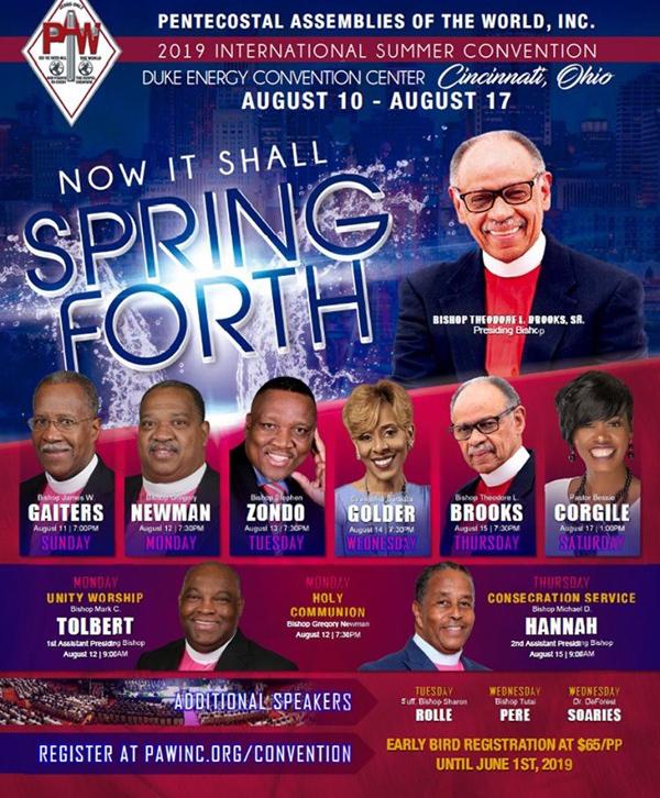 Pentecostal Assemblies of the World, Inc  2019 International