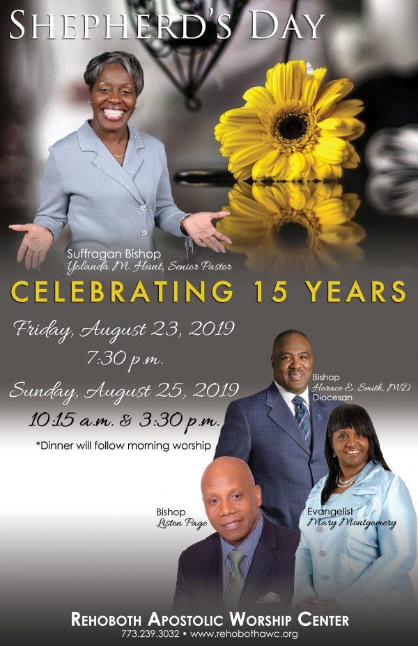 Rehoboth Apostolic Worship Center Shepherds Day 2019