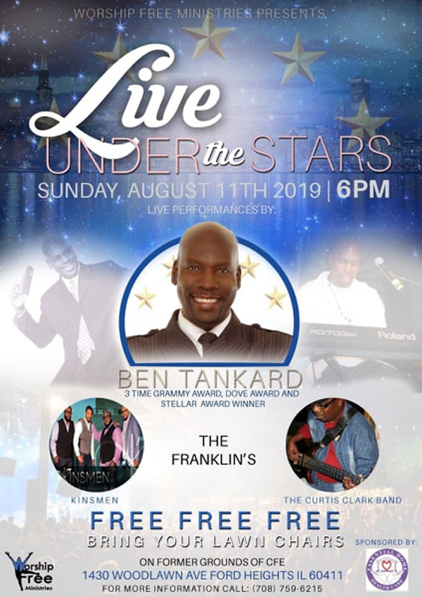 Live Under the Stars with Ben Tankard August 11 2019