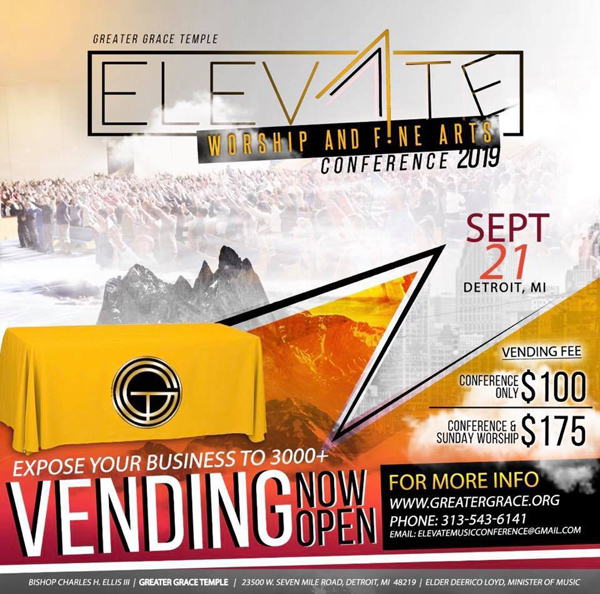Greater Grace Temple Elevate Conference Vending 2019