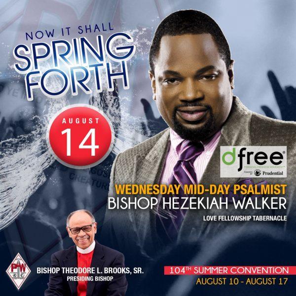 Hezekiah Walker PAW August 2019