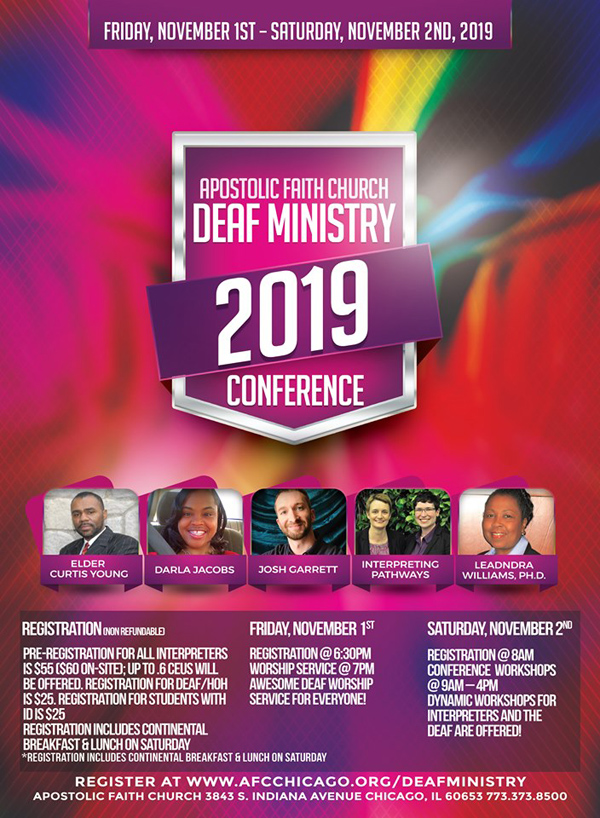 Apostolic Faith Church Deaf Ministry Conference 2019