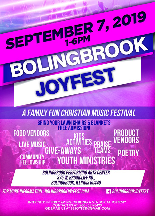 Bolingbrook Joyfest 2019