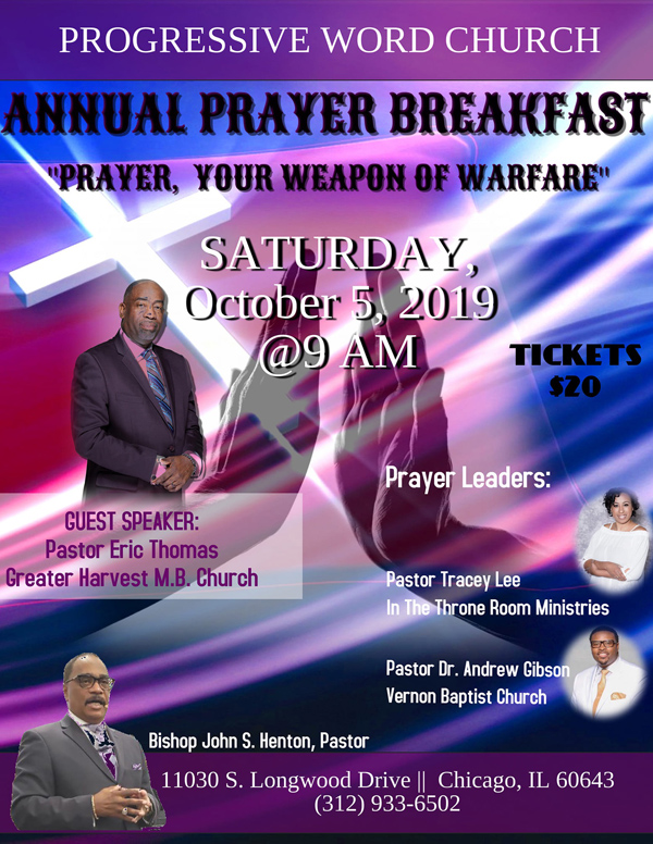 Progressive Word Church Prayer Breakfast October 2019