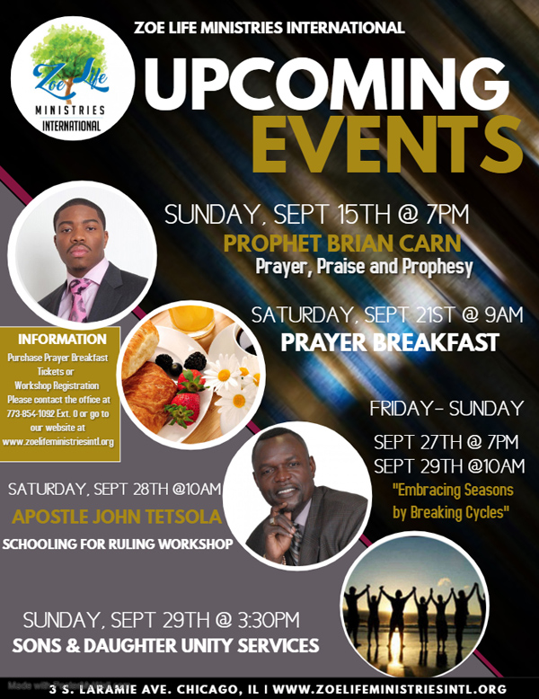 Zoe Life Ministries Sept 2019