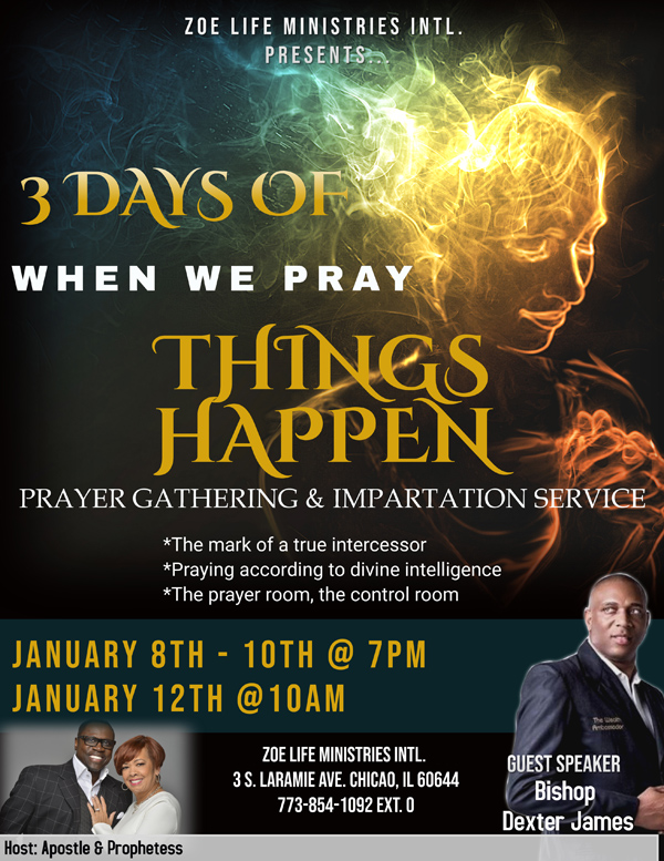 Zoe Life Ministries 3 Nights of Prayer January 2020