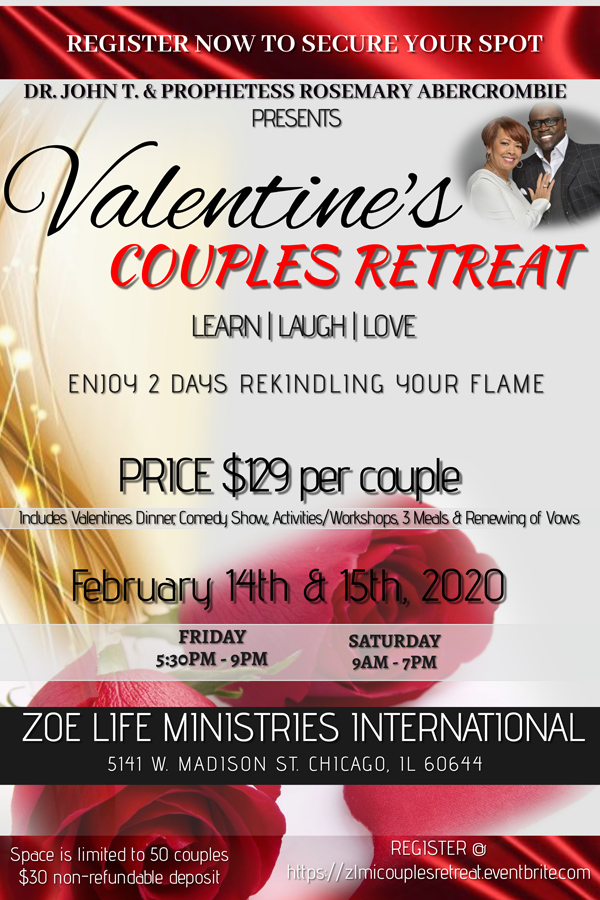 Zoe Life Ministries Intl Valentines Couples Retreat 2020