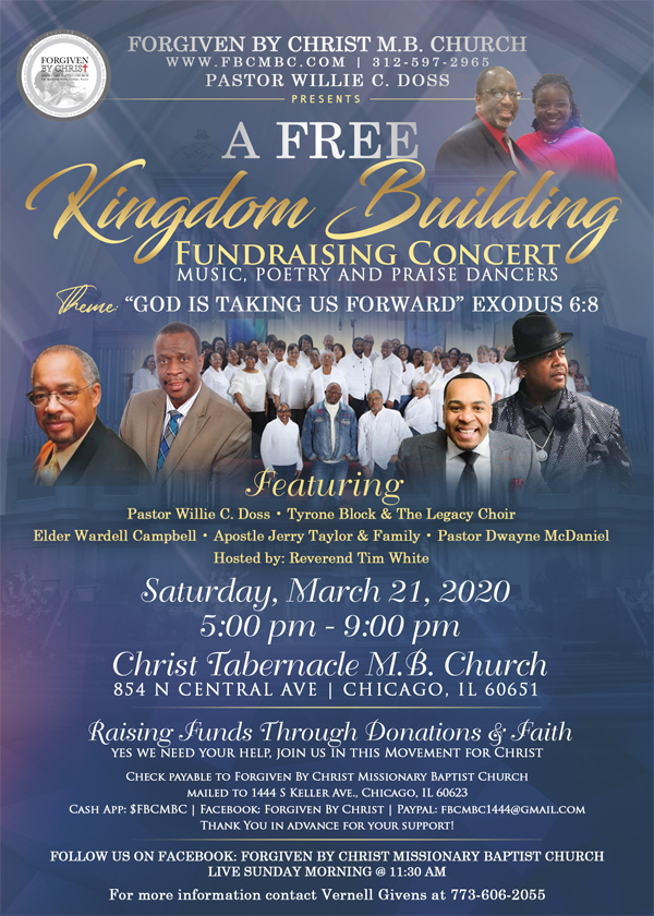 Forgiven by Christ M B Church Fundraising Concert 2020