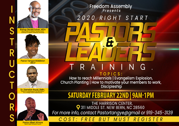 Freedom Assembly Pastors and Leaders Training Feb 2020